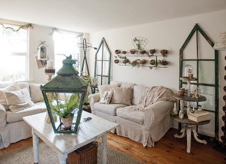 Shabby-chic living room
