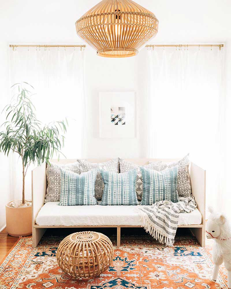 boho-chic daybed