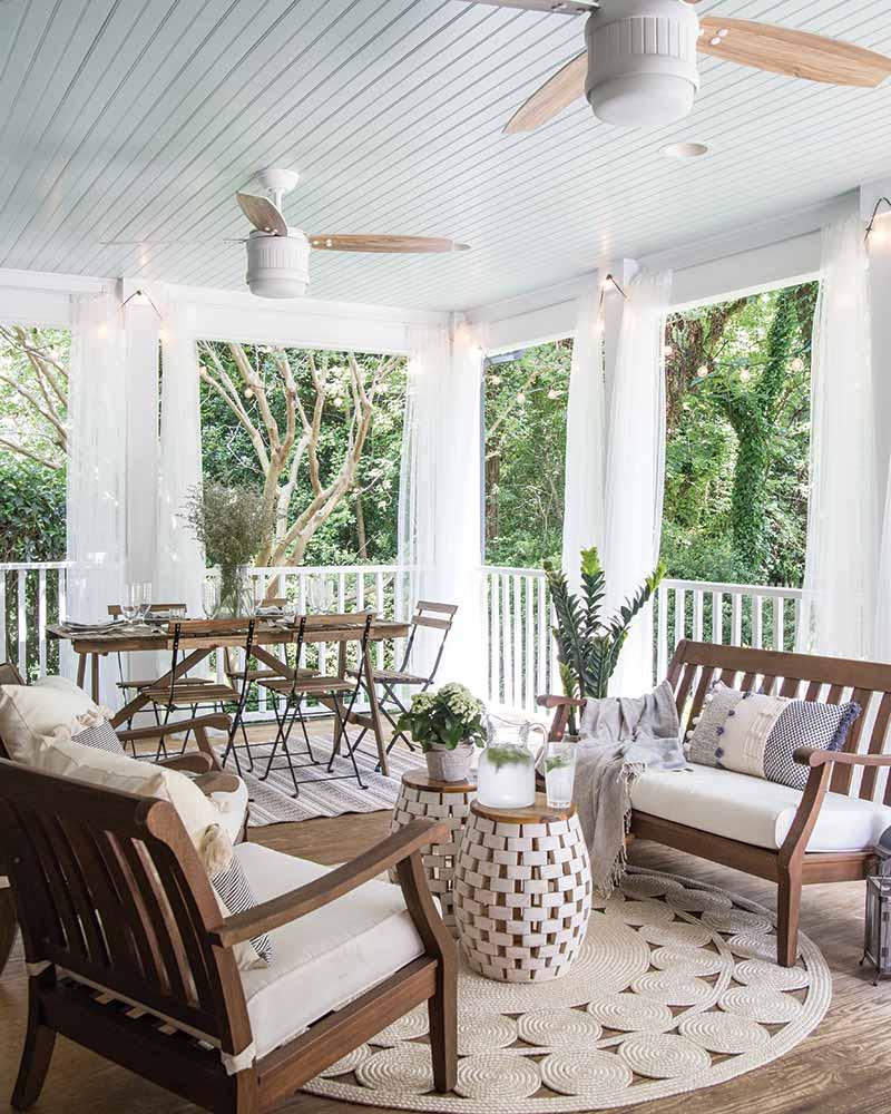 southern style back porch