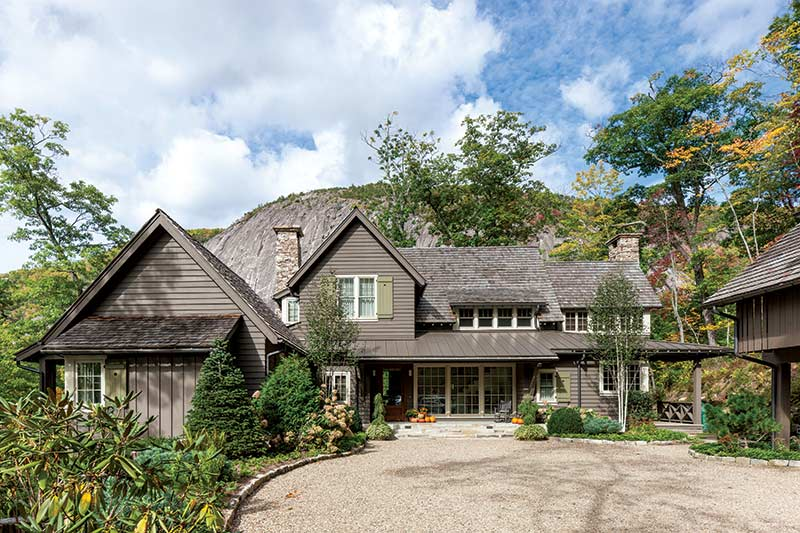 Mountain home exterior in Cashiers, NC