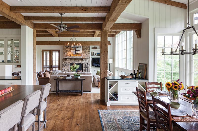 Great room in Cashiers, NC cottage