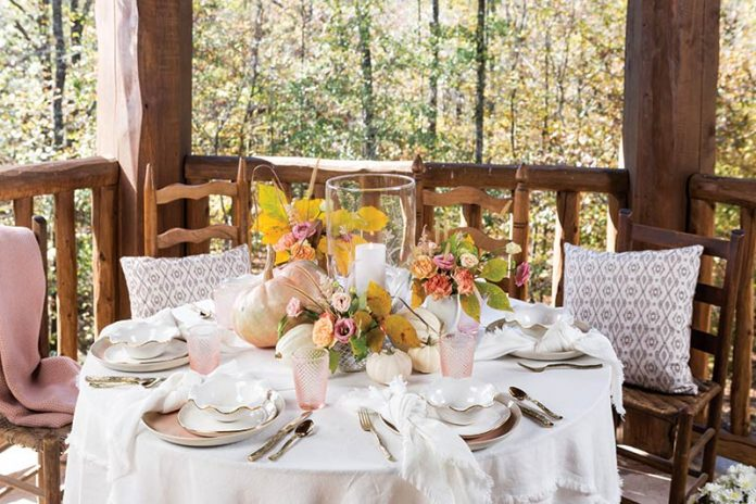 autumn brunch table setting