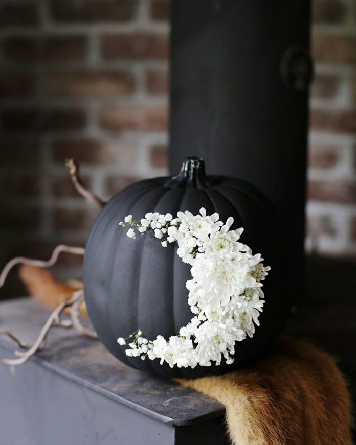Halloween decor - black pumpkin