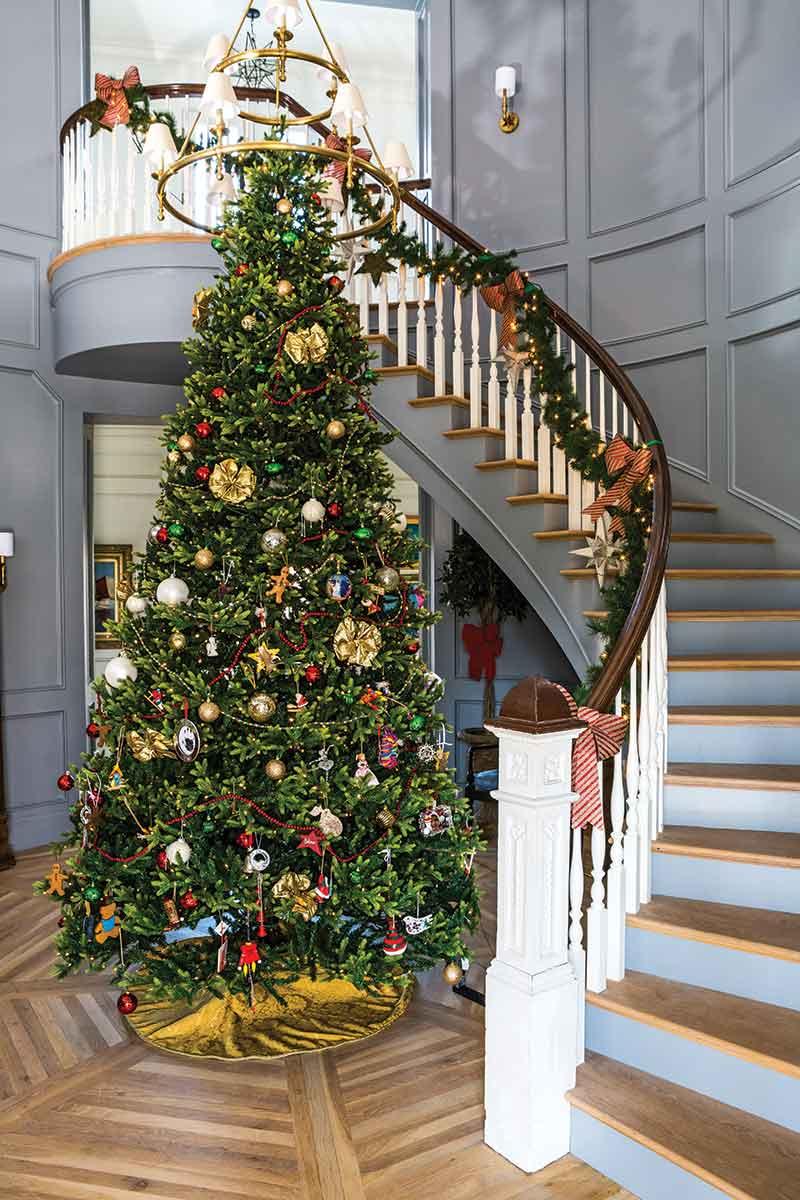 Christmas tree in entryway