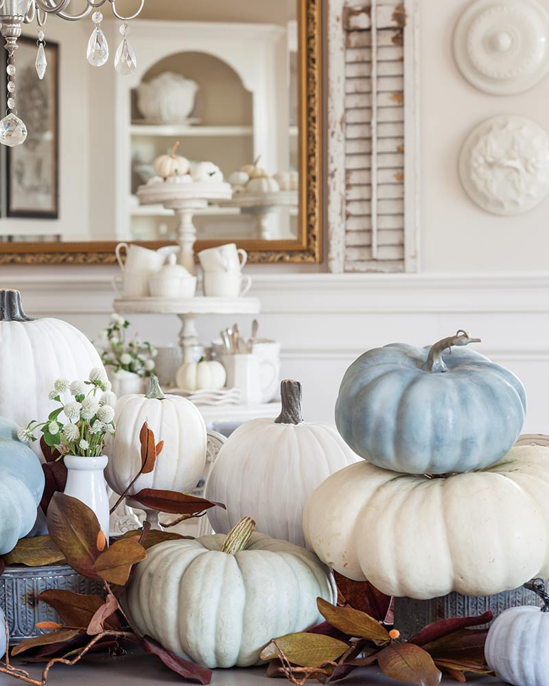 neutral autumn pumpkins