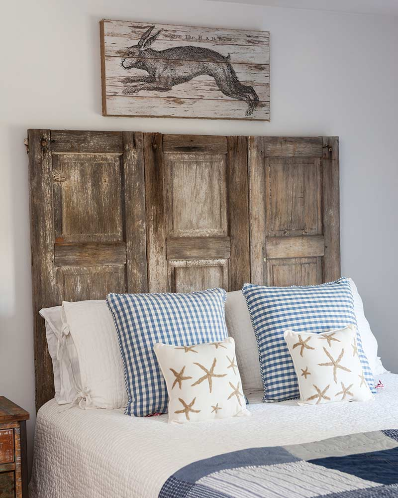StoneGable salvages shutter headboard