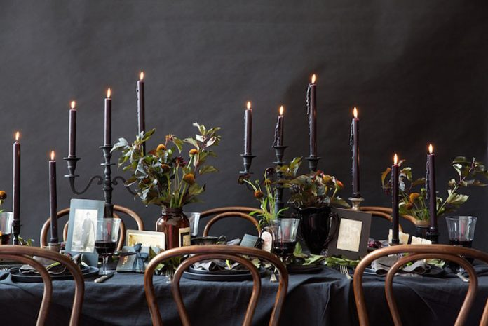 Halloween decor - tablescape