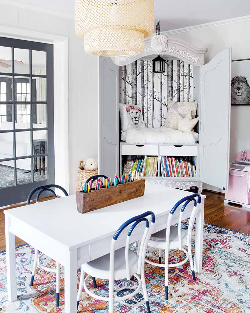 Colorful Cottage Rooms: See The Transformation: Brick Colonial Turned Charming