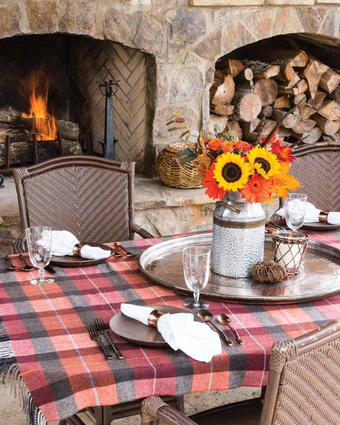 autumn outdoor table setting