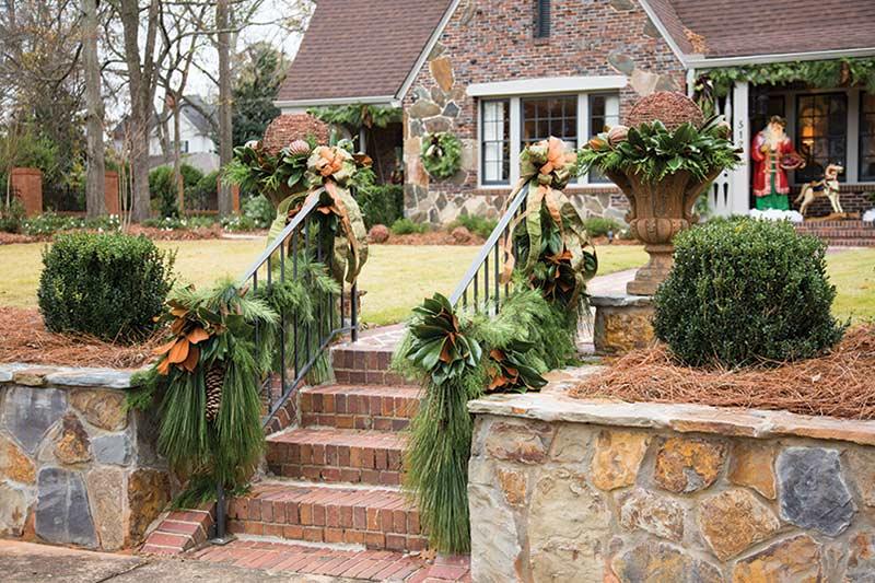 Christmas pine on exterior