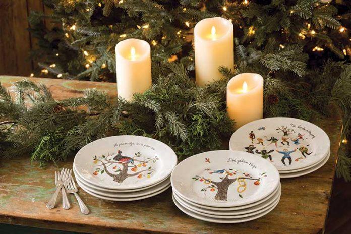 Twelve Days of Christmas plates from Juliska