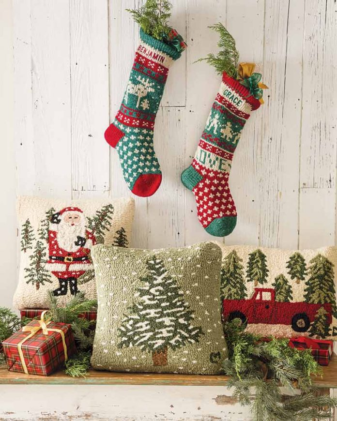 Christmas pillows from Chandler 4 Corners,