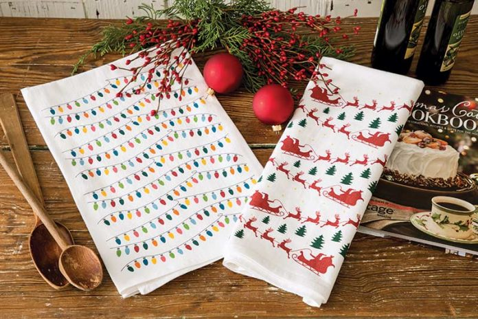 Christmas tea towels from Coast and Cotton