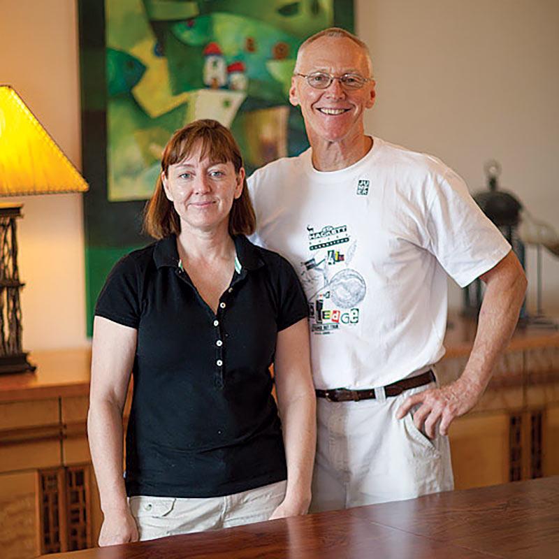 Kate Swann and Carl Johnson