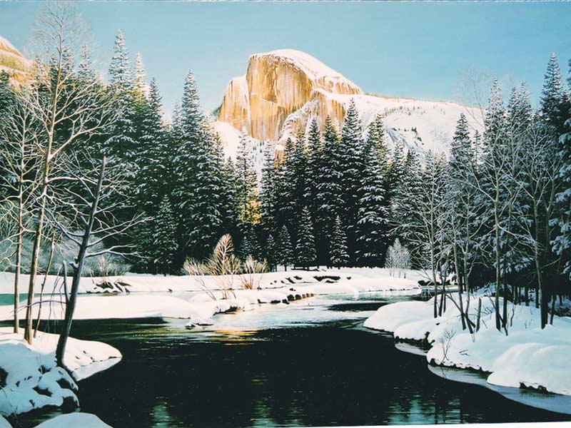 Painting of Half Dome Yosemite National Park
