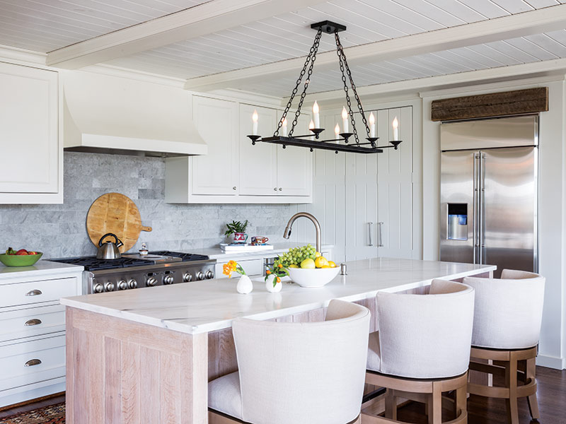 bright and open kitchen with large island