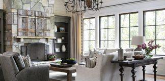 Mountain lodge living room