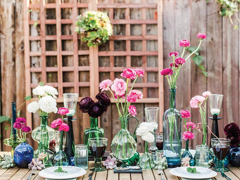 whimsical floral tablescape