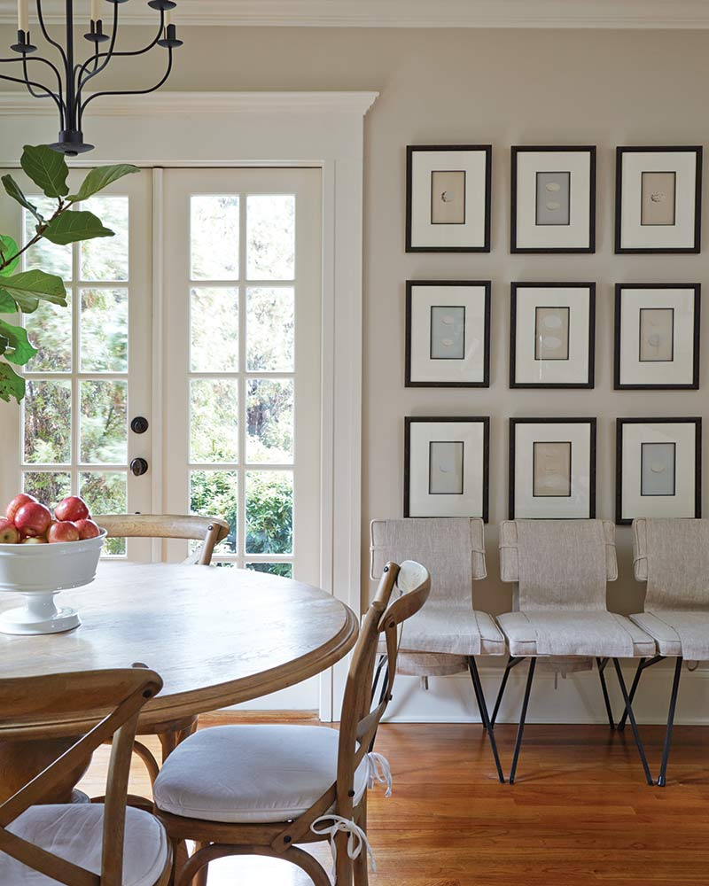 breakfast table and French doors