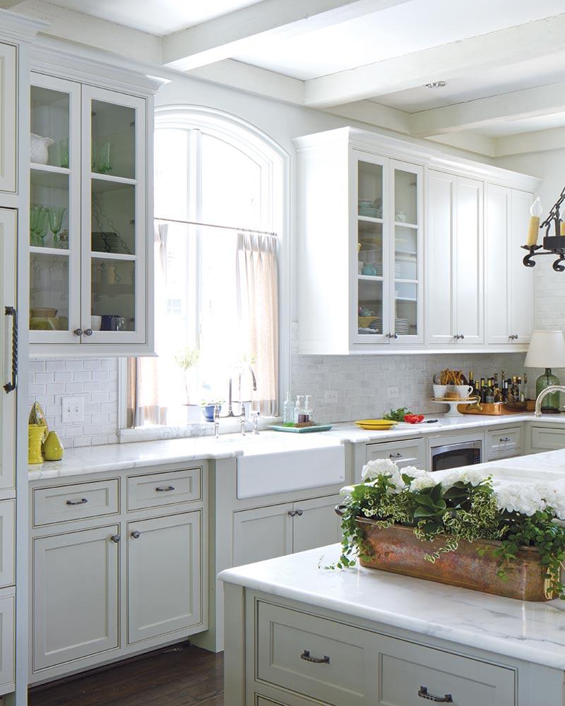 white sun-lit kitchen