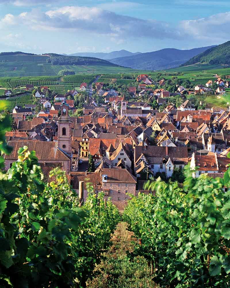 Located in the center of Alsace, the wine-producing village of Riquewihr is full of charm.