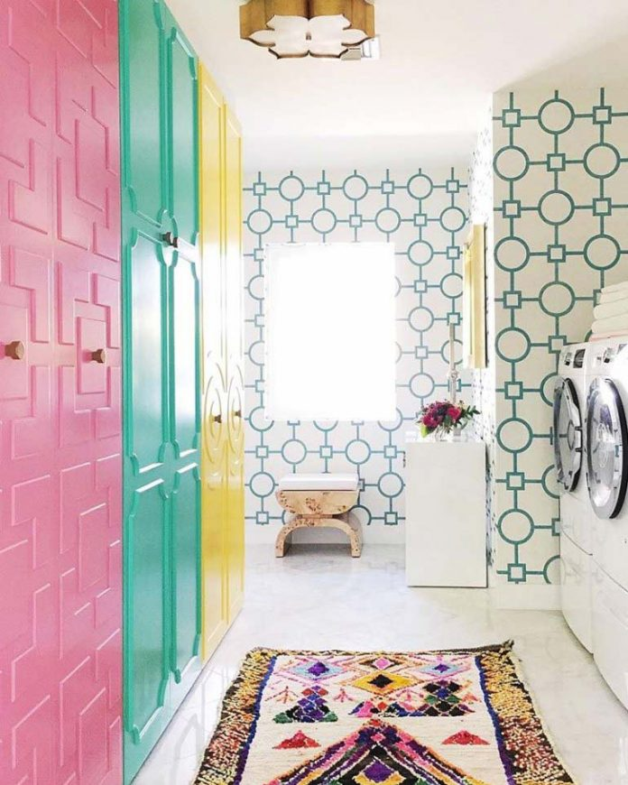 color block laundry room