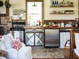 Country kitchen with stone floors