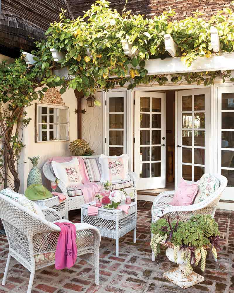 back patio in vintage-style home
