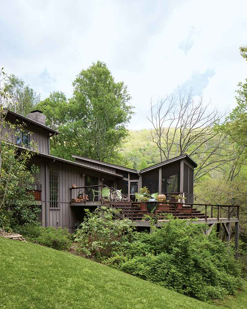 home in the woods exterior