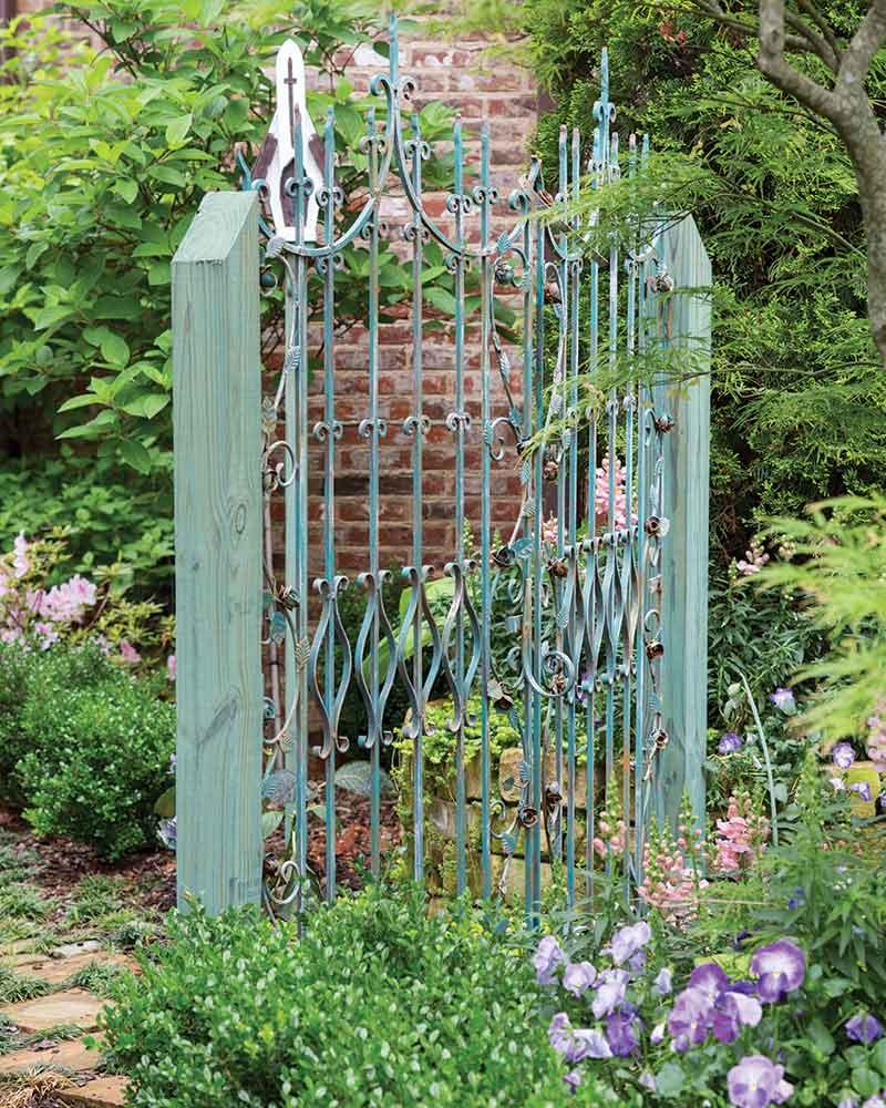 teal garden gate