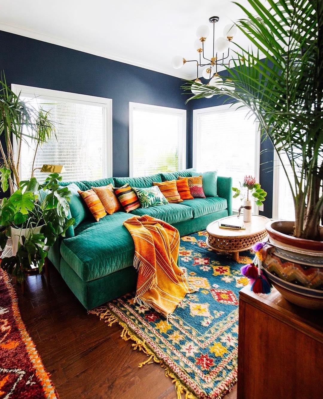 Justina Blakeney of Jungalow living room