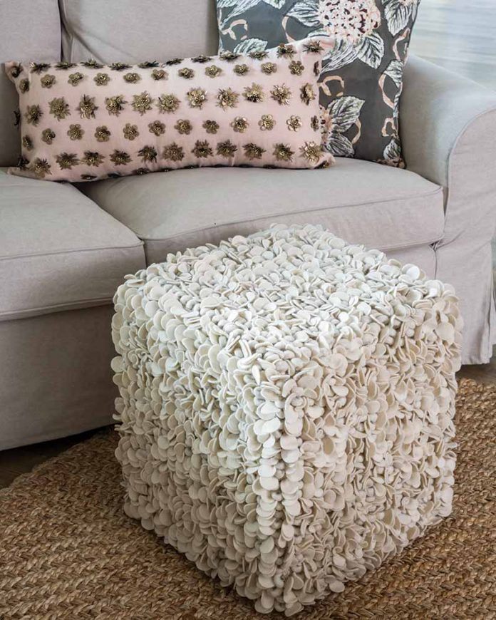 Pillows and pouf from Pyar&Co.