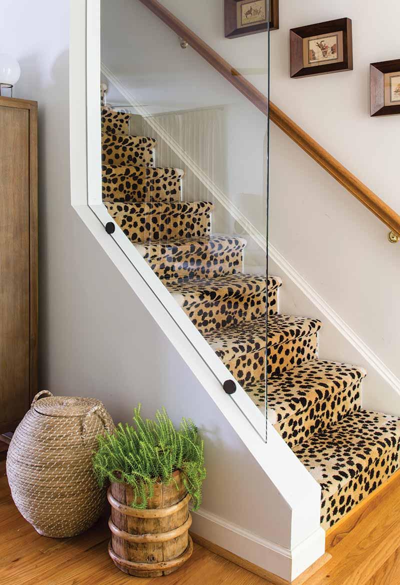 Cheetah print staircase