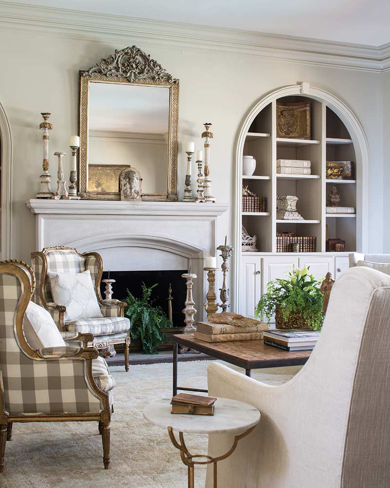Neutral French-style living room