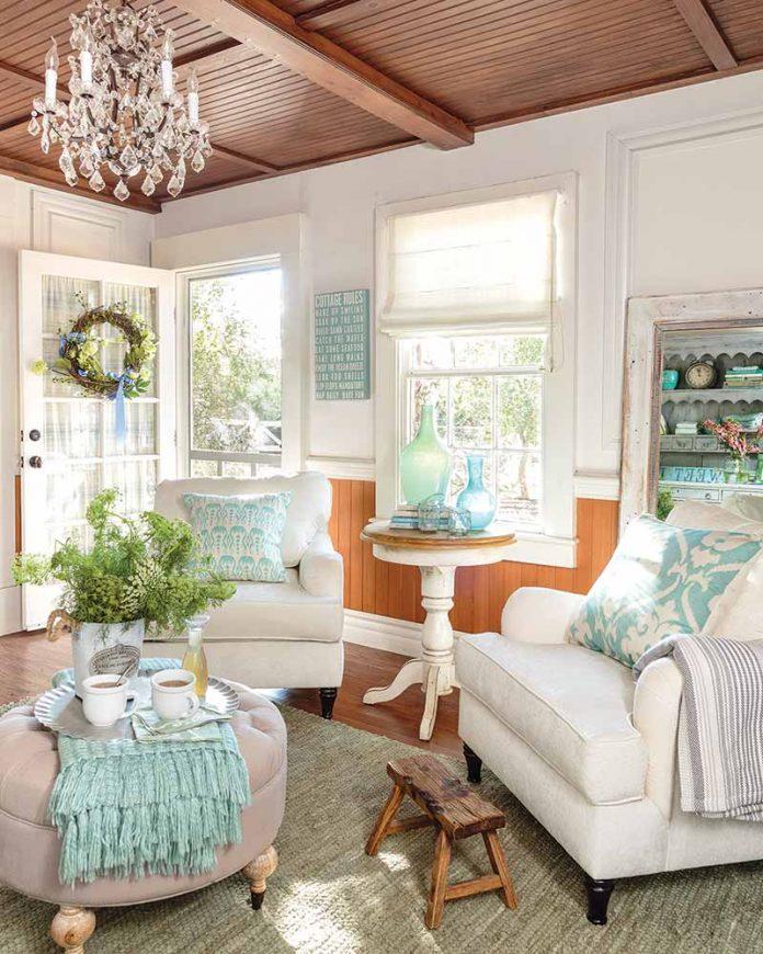 pastel sitting room