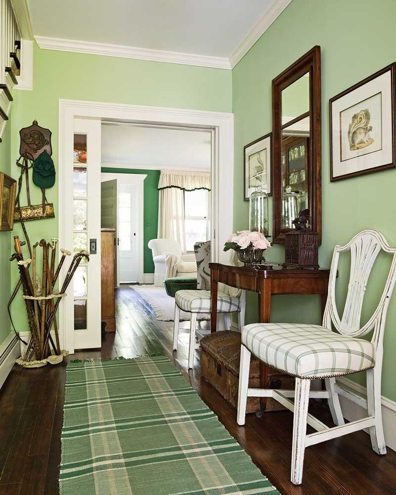 green foyer