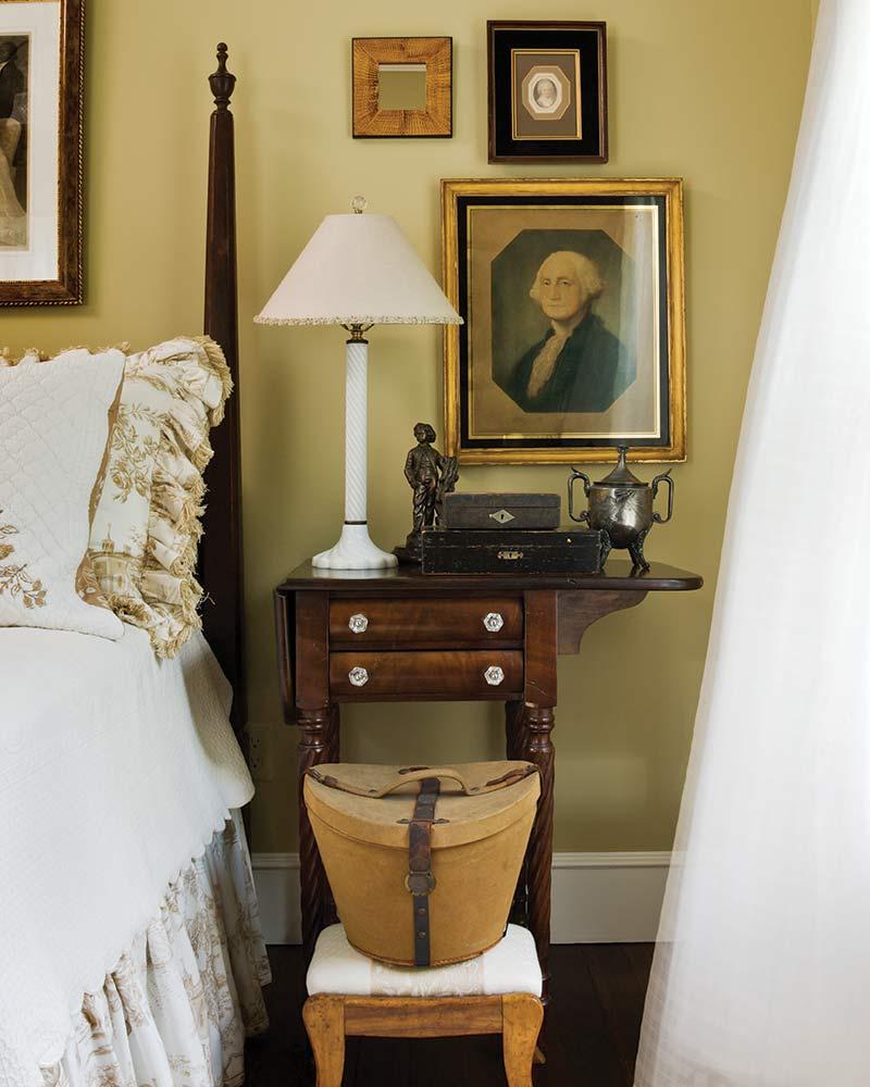 cafe au lait paint color in guest bedroom