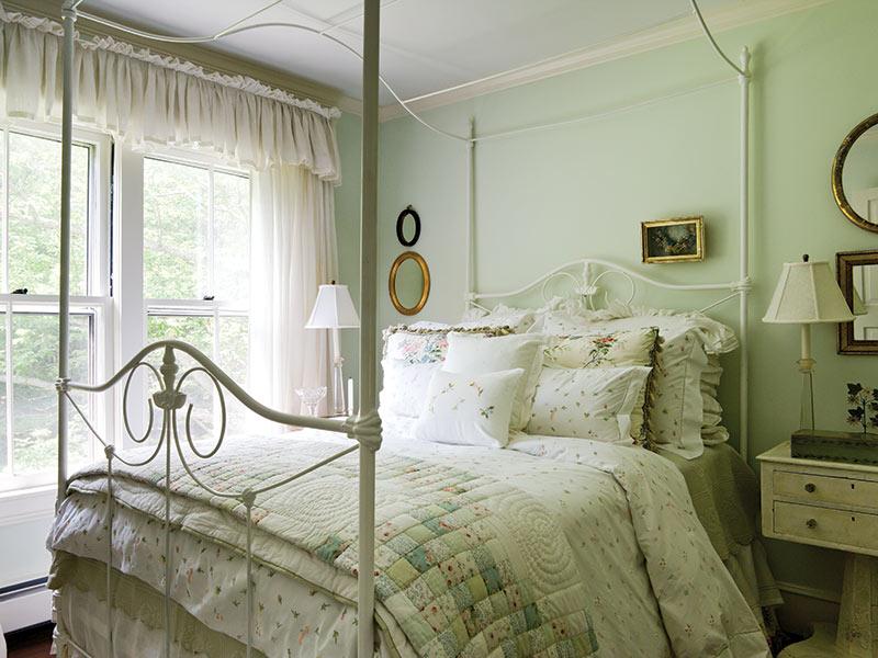 light green guest bedroom