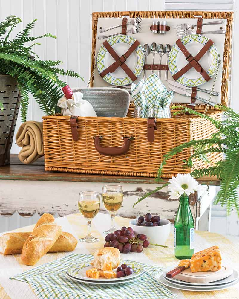 picnic basket from Wayfair
