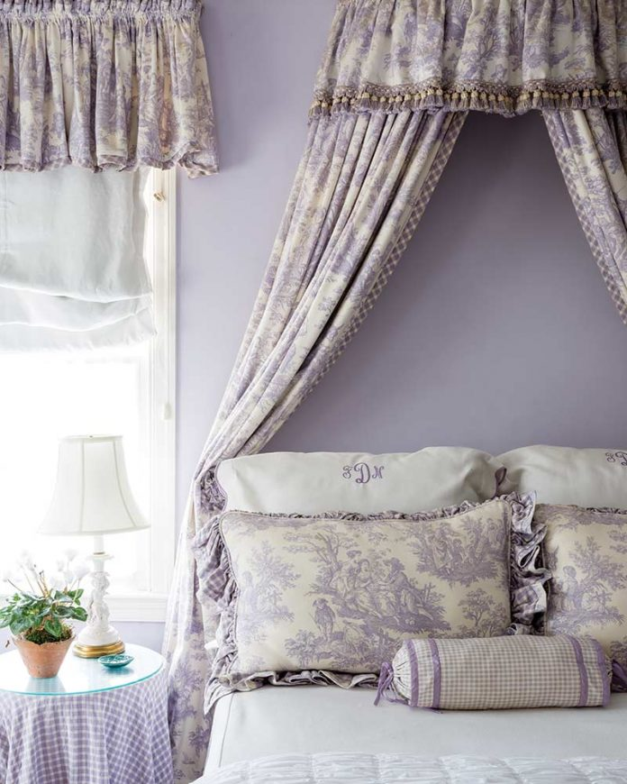 French-style lavender bedroom