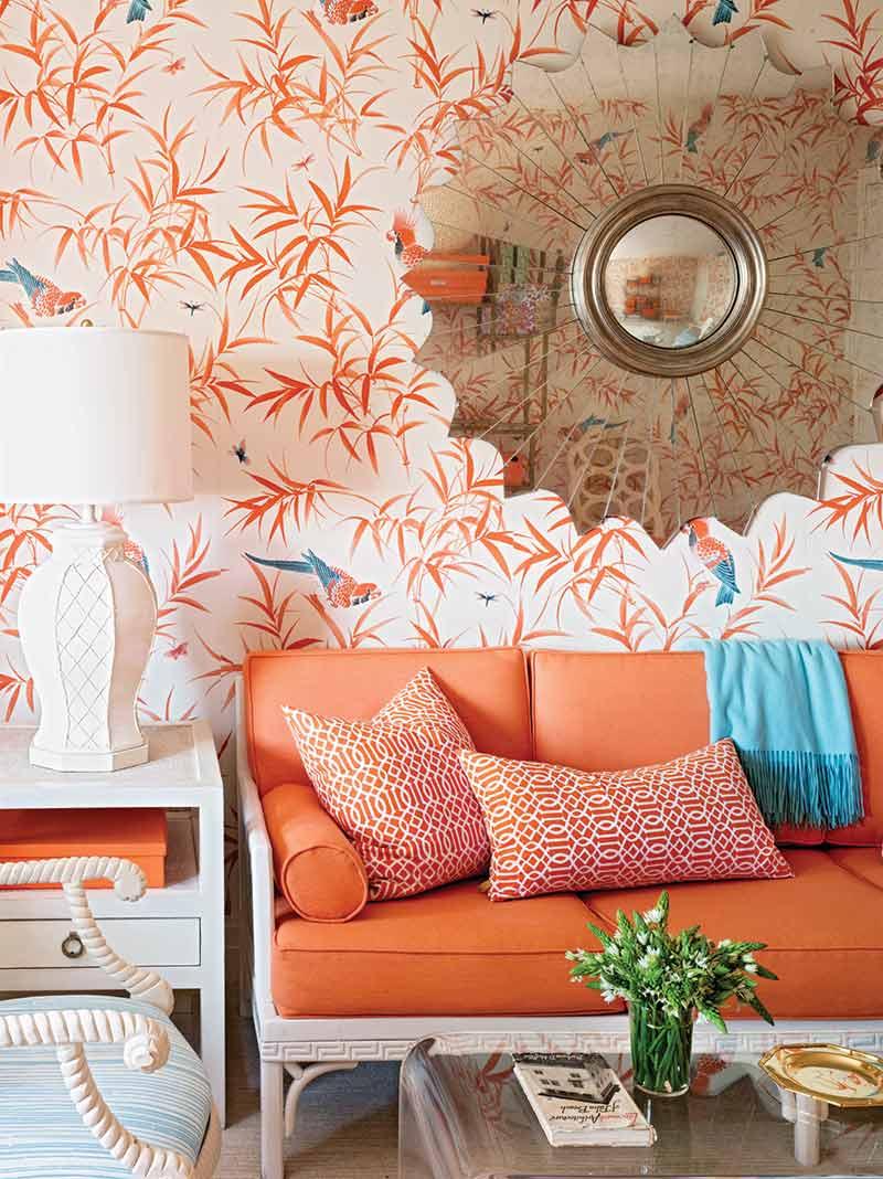 Meg Braff - orange living room