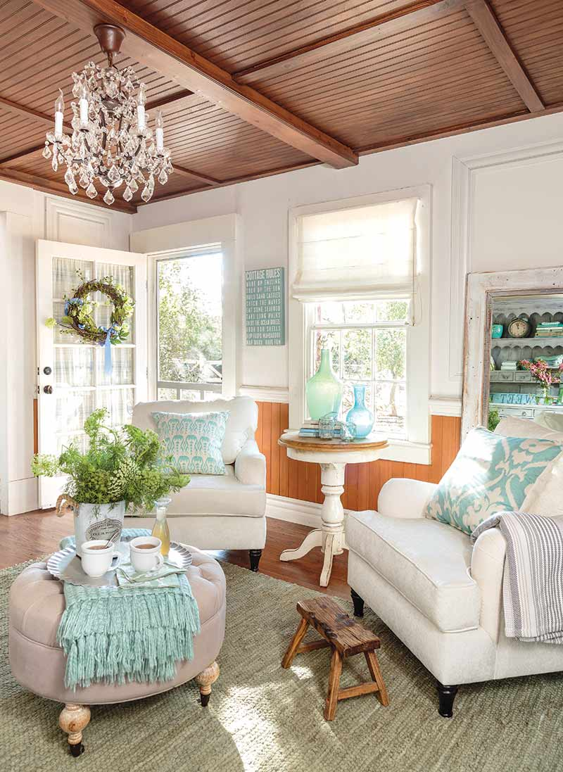 Californian cottage living room